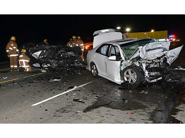 Head-on crash on Highway 126 photo - santa clarita car accident