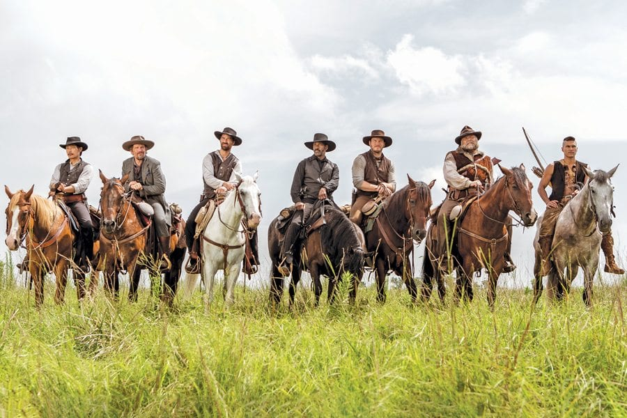 'The Magnificent Seven' is a rousing, action-packed Western