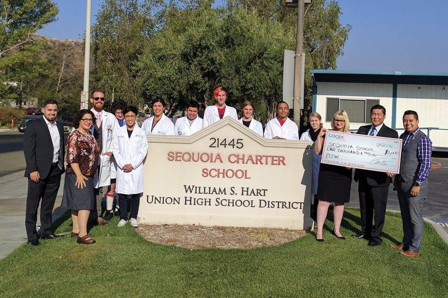 Logix Federal Credit Union Donates $1,000 to Sequoia School