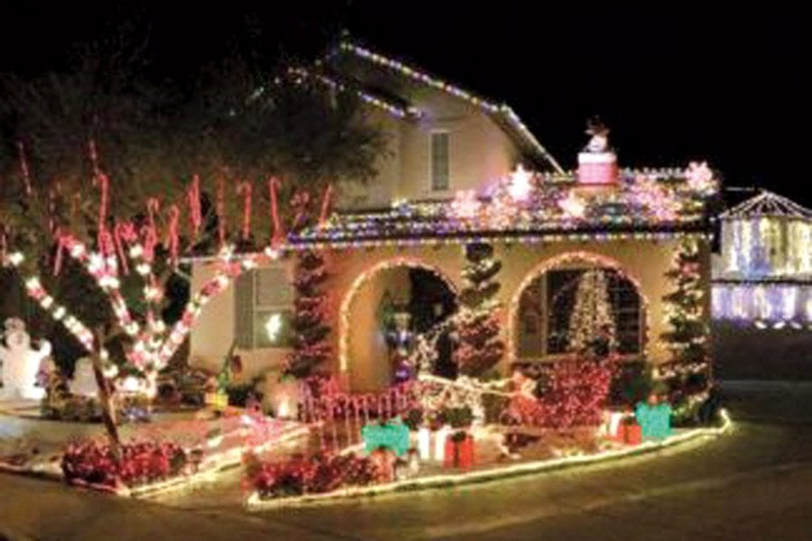 christmas lights cover a house on cotton blossom lane courtesy photo - Christmas Lights In Santa Clarita
