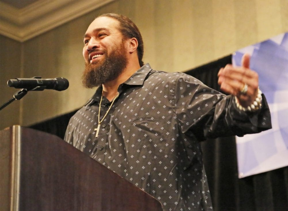 NFL player Peko shares journey to COC
