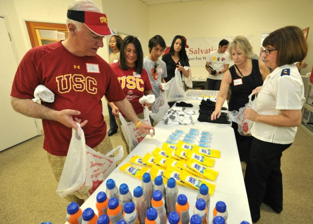 USC and The Salvation Army join forces to help local homeless