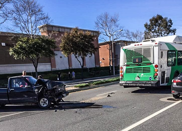Traffic collision involves city bus