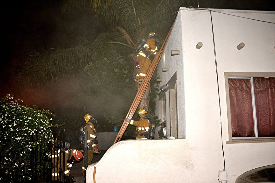 Newhall attic fire quickly extinguished Tuesday morning