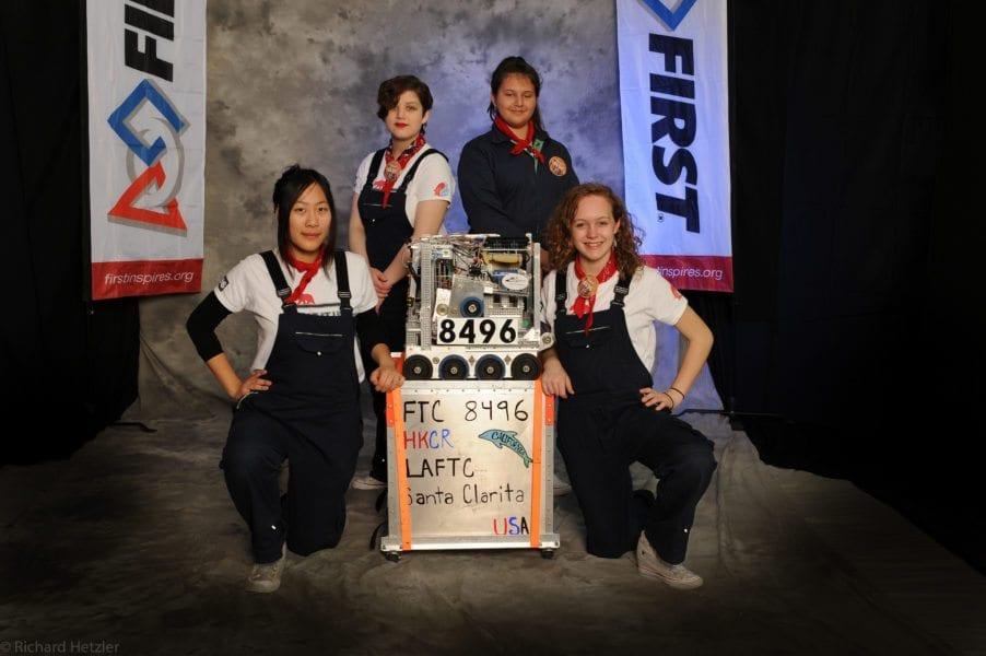 Female robotics club battles to the top