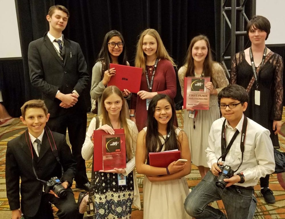 Castaic Middle School shines at media convention