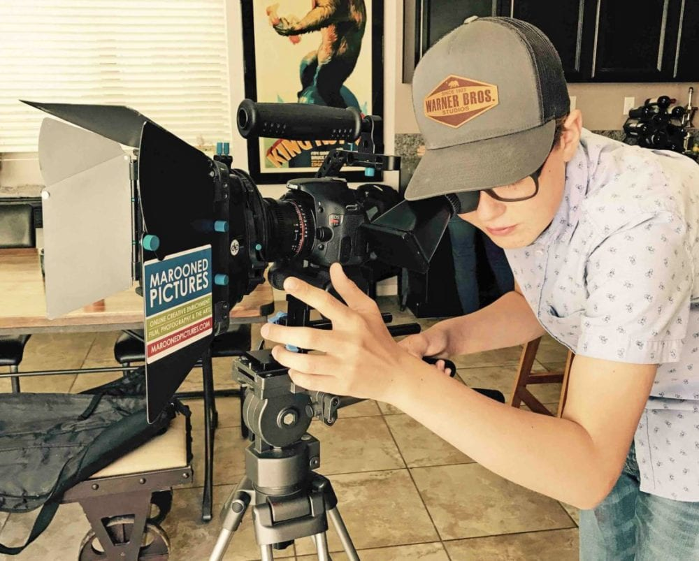 Griffin Loch, 13, aims to make his mark in the film industry