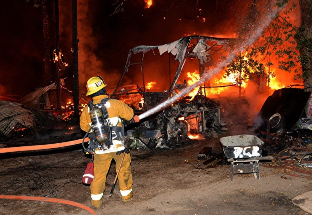 Arson suspected in fire that destroyed house, barn in Agua Dulce