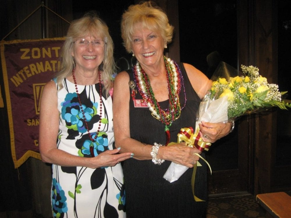 Zonta Installs New Officers, Names Zontian of the Year
