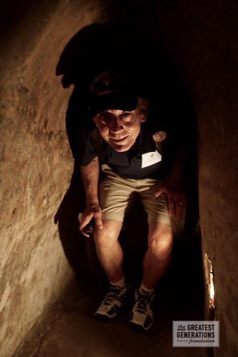 Lynn Hunt, former 1st Platoon, Charlie Company platoon leader in Cu tunnels