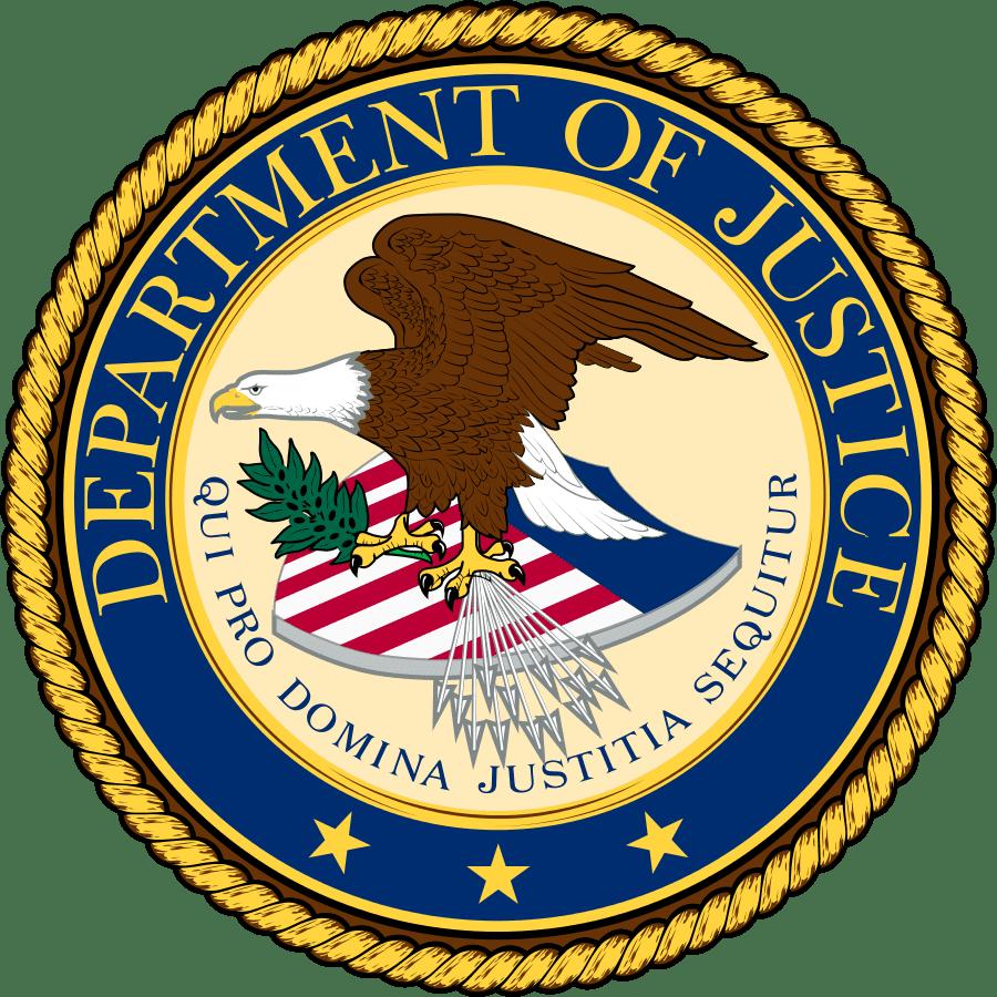 U.S. Department of Justice seal