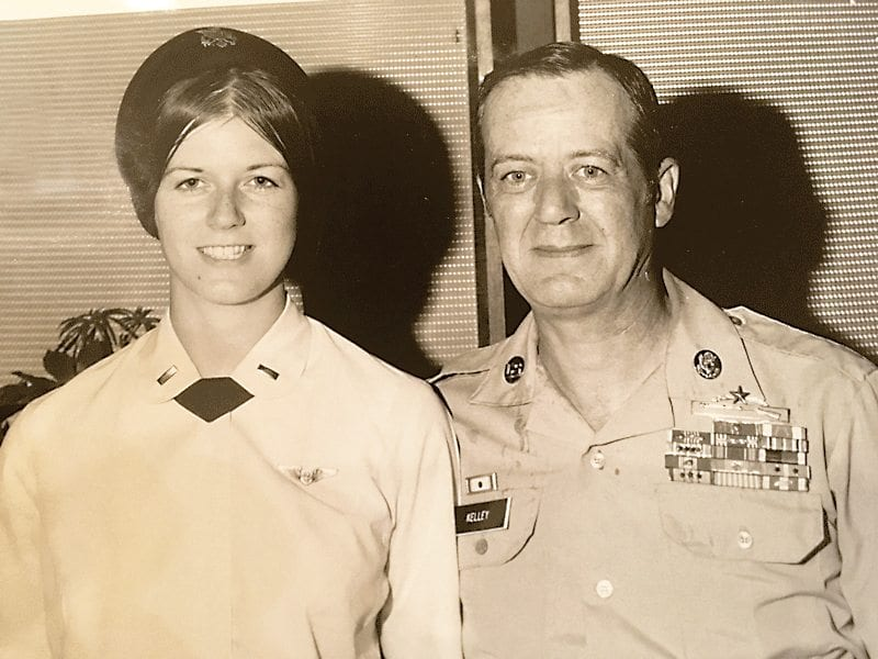 Horanberg,-Pat-with-her-Dad-as-he-retired-from-the-U.S.-Army.–Aug-30,-1973