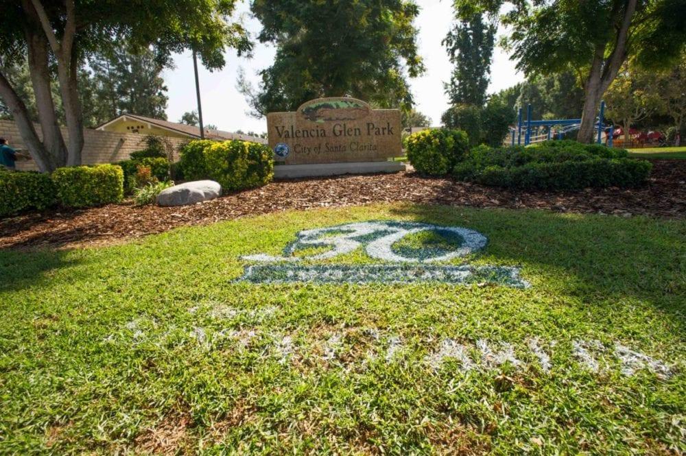Santa Clarita paints logo in parks in honor of 30-year anniversary