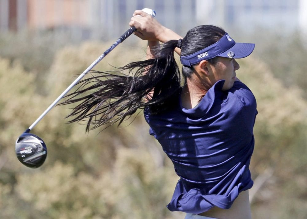 West Ranch girls golf's Song is working her way up