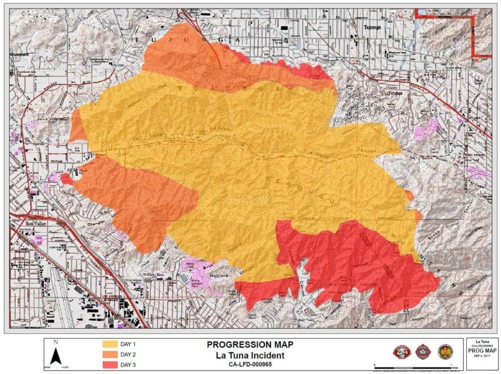 lafd la tuna fire map – santa clarita valley signal -