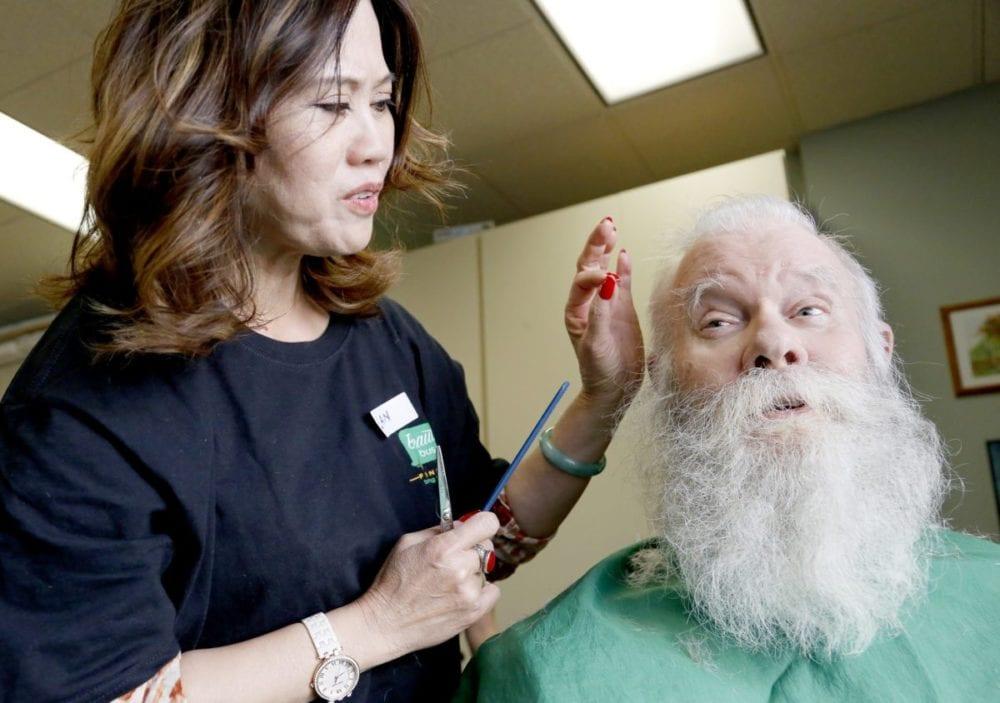 Beauty Bus stops at the Senior Center