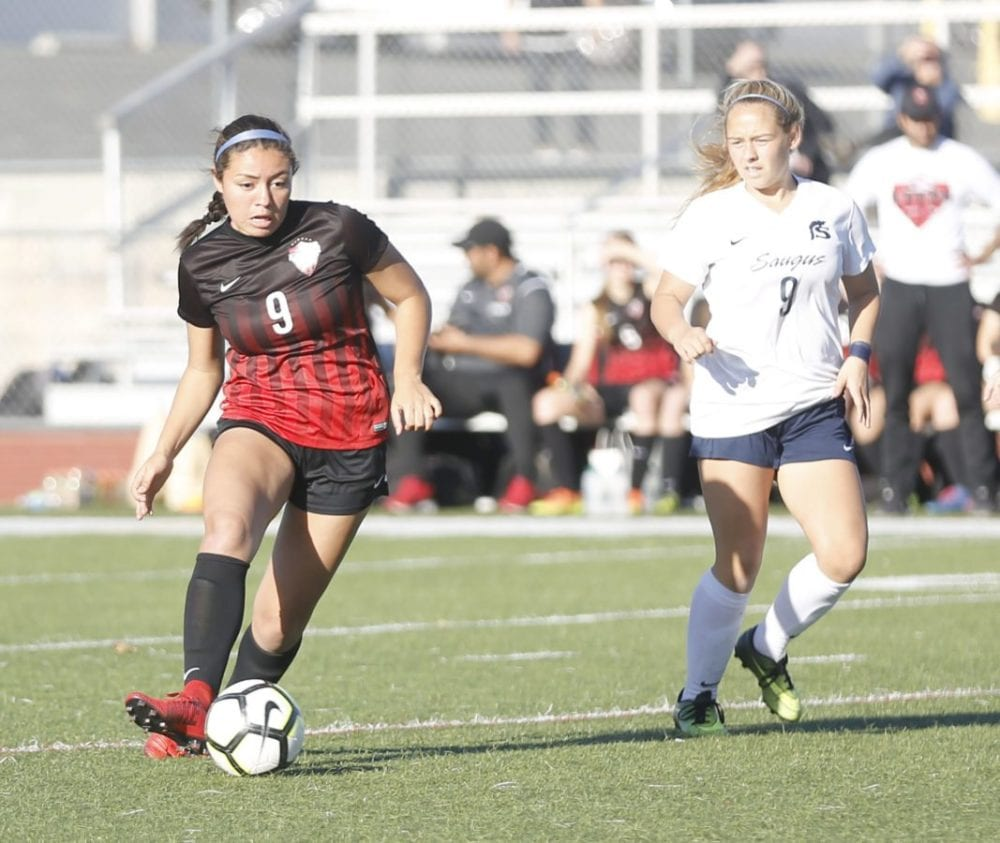 Hart's Taylor Moorehead voted All-Foothill League Girls Soccer POY