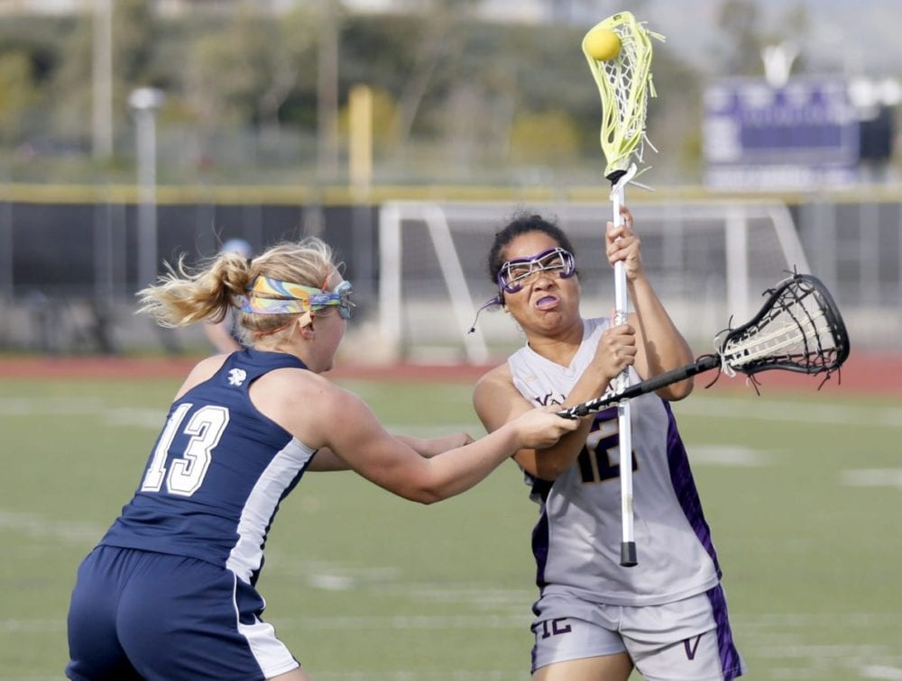 Valencia girls lacrosse looses footing against Crescenta Valley