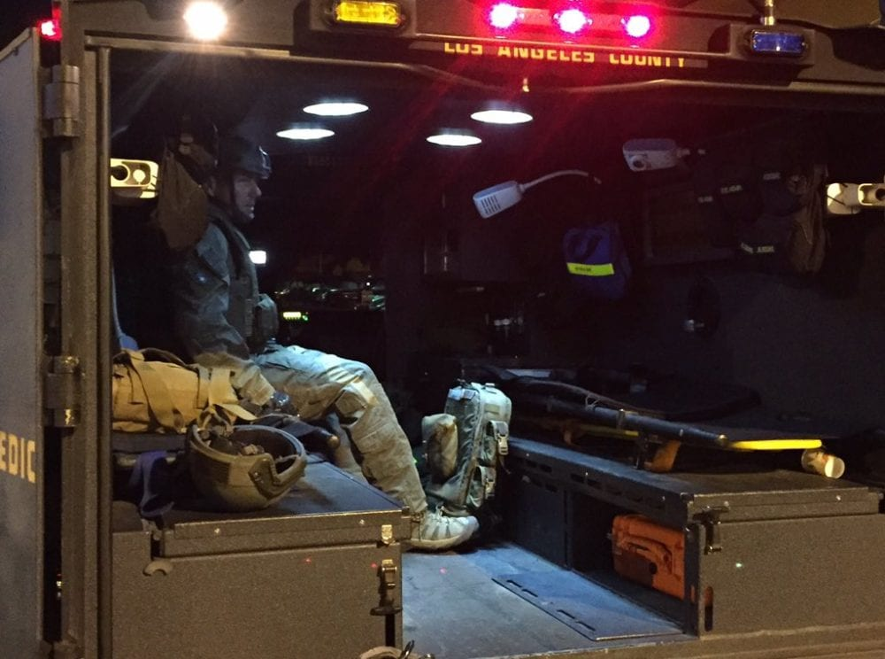 SWAT team helps local cops in Canyon Country arrest