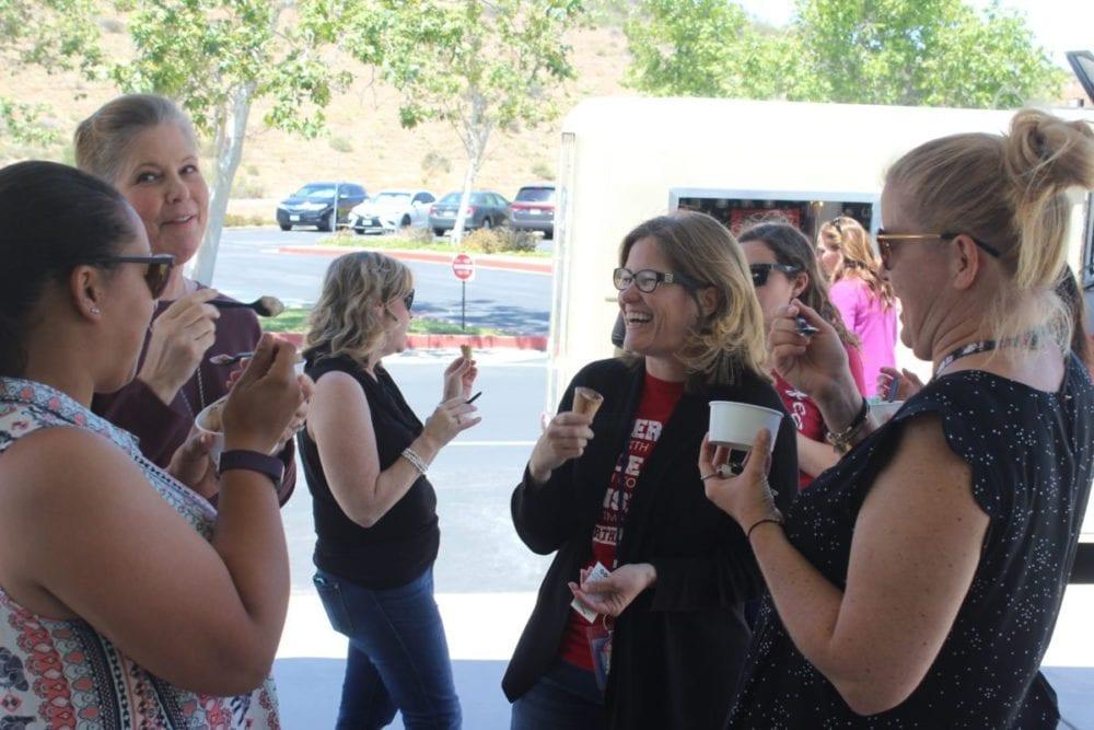 Castaic Union treats teacher and staff