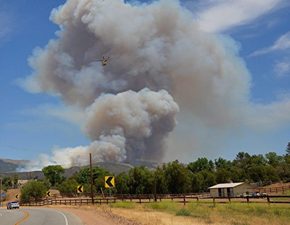 Agua Dulce Brush Fire Photos by Rick McClure 1