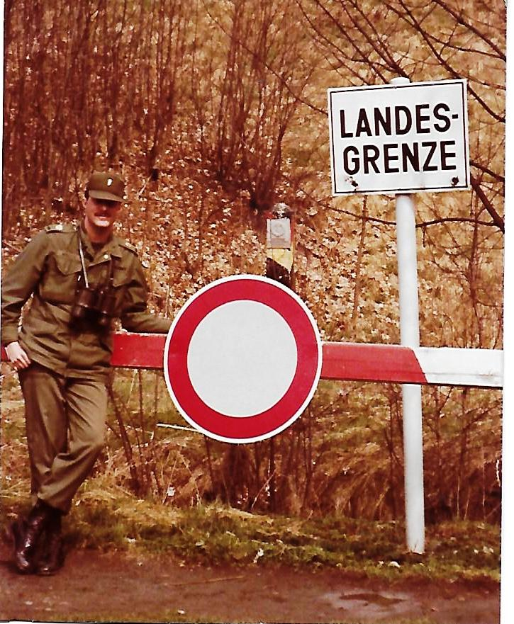 Karl J. Vogeley at East.West German Border