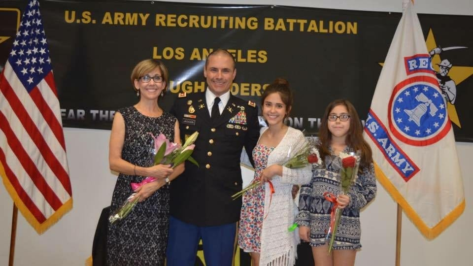 David M. Jackson Promotion to Lt. Colonel with family