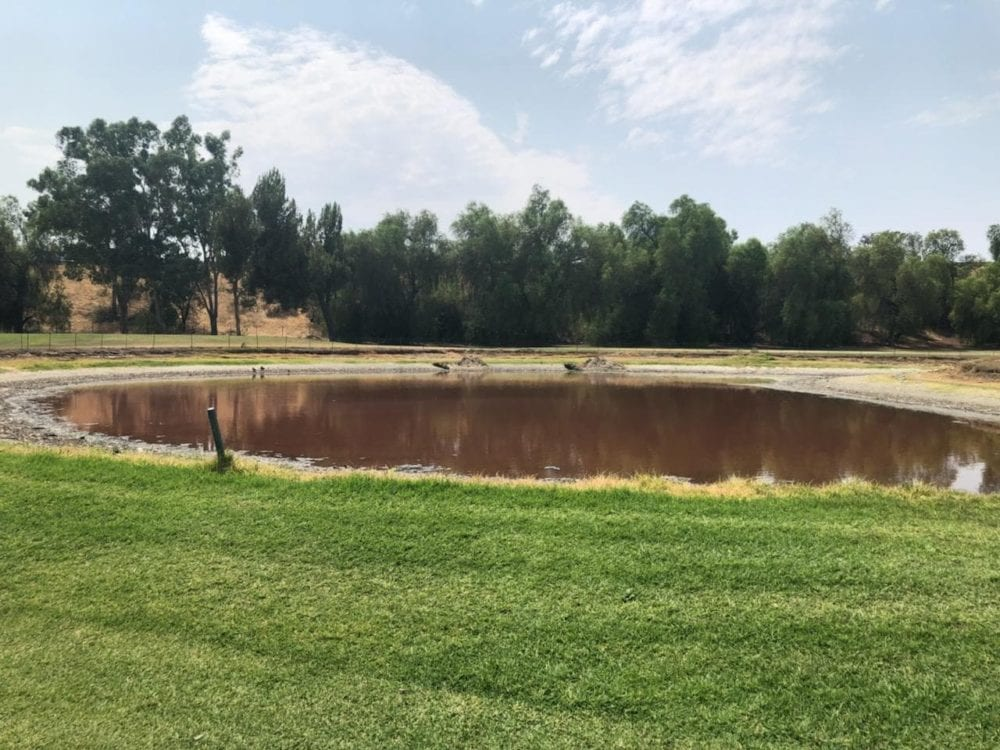 Vista Valencia Golf Course fined $100 for stinky pond now drained completely