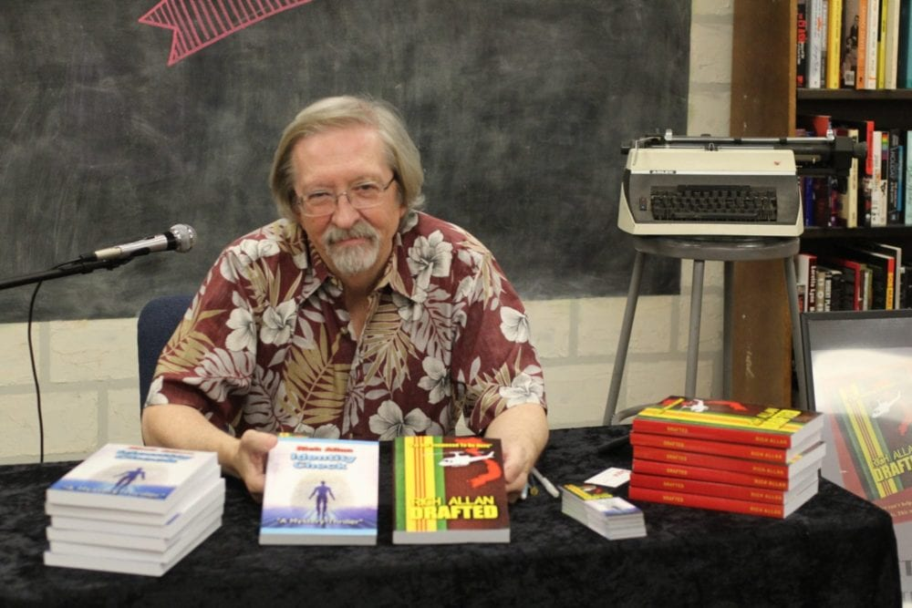 author rich allan signs and shares novels set in vietnam and