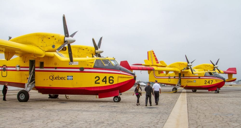 Firefighting aircrafts arrive to augment local efforts