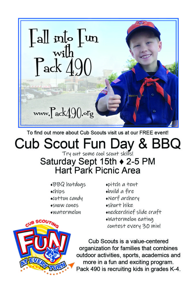 Recruitment coming up for Cub Scout Pack 490 next week