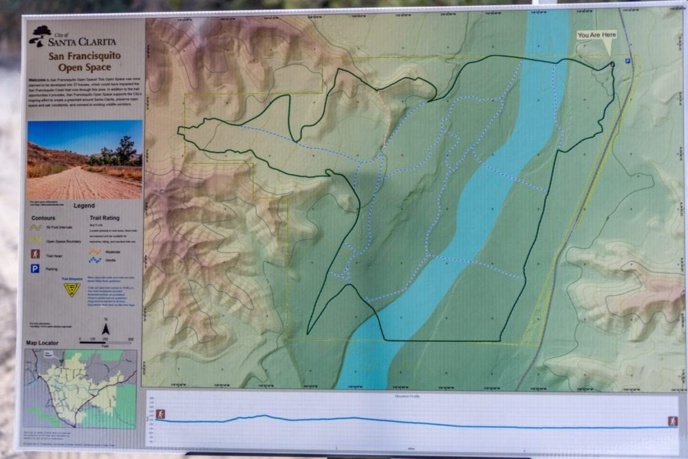 A map shows the new San Francisquito Open Space trail. Cory Rubin/The Signal