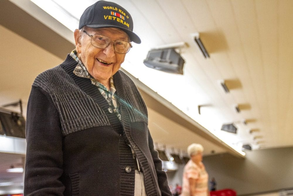 Alley celebrates 100-year-old bowler