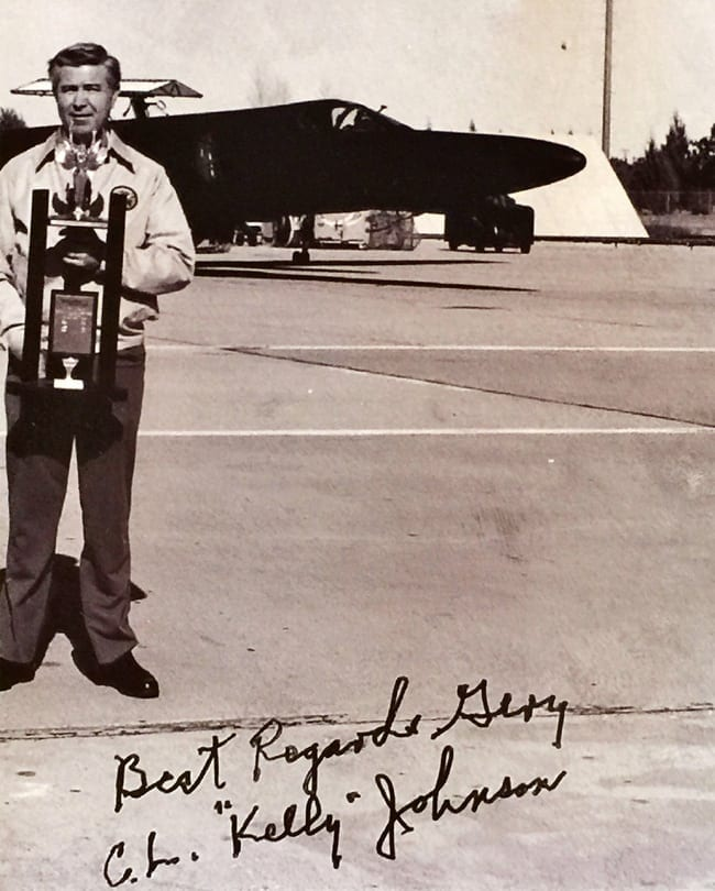 Gary J. Popejoy & U2 Spyplane Photo signed by famous aviator Kelly Johnson