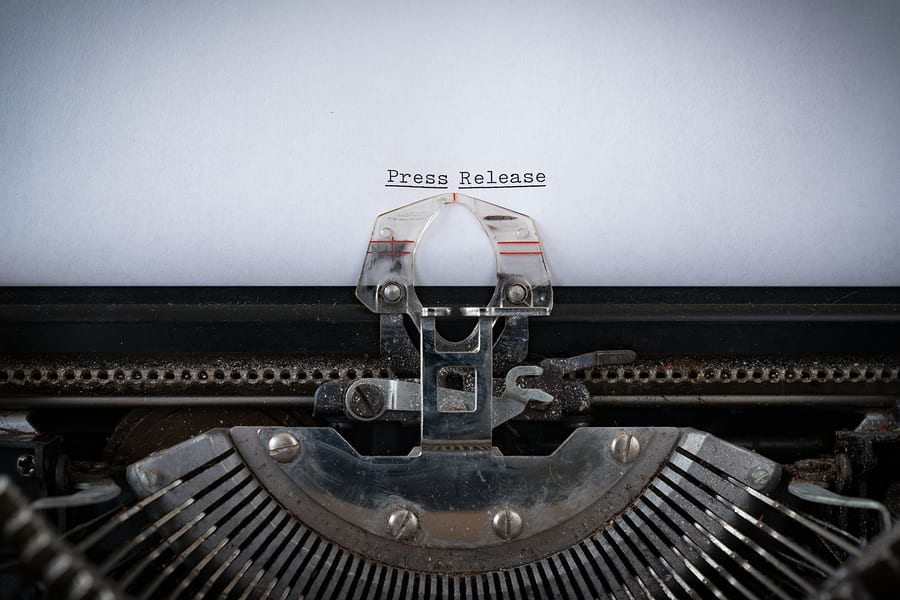 The Phrase Press Release  Typed On An Old Typewriter