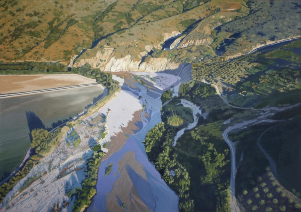 """""""Santa Clara Riverbed"""" by Bruce Everett, oil on canvas, 35 x 50 inches, Collection of the artist"""