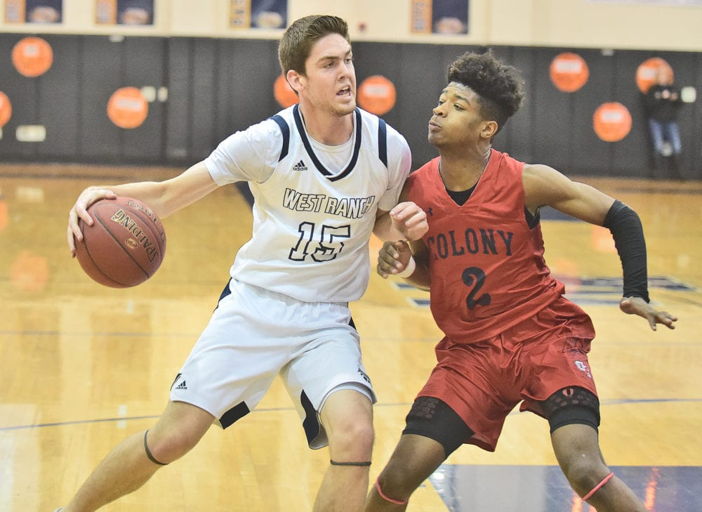 West Ranch boys basketball falters in second half, loses to Colony in quarterfinals