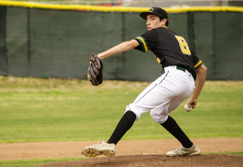 Canyon's Harrison throws complete game shutout against GV