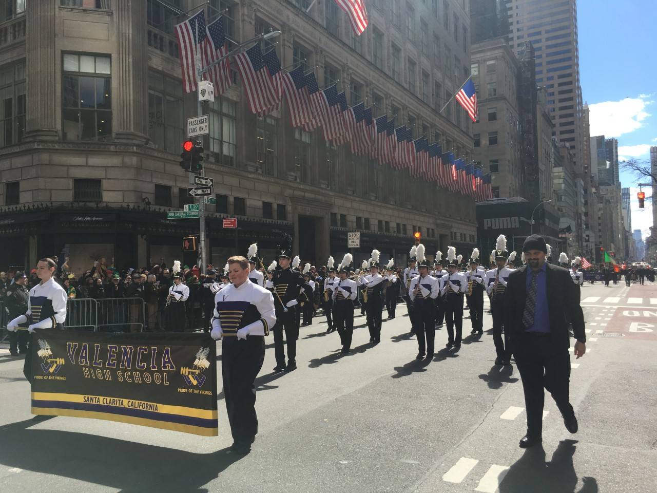 Valencia marching band performs at Carnegie Hall, NYC St. Patrick's Day parade