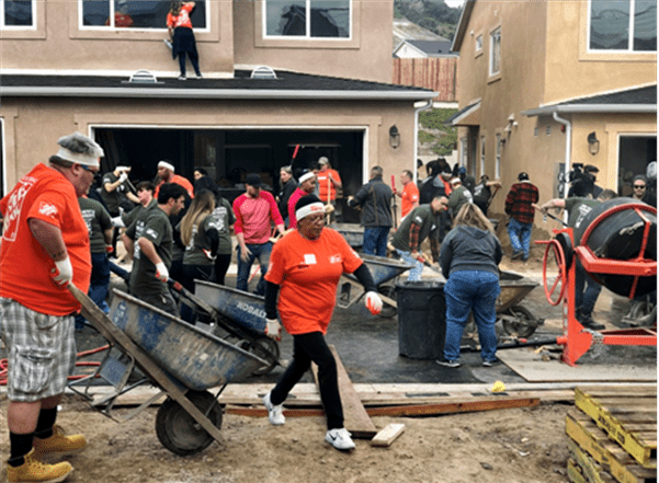 Home Depot pitches in for veterans houses