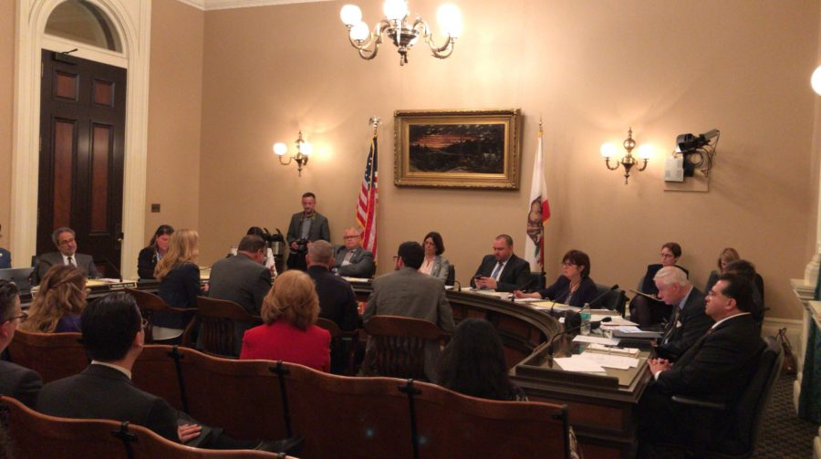 Kellar joins Smith in Sacramento to voice support for bill