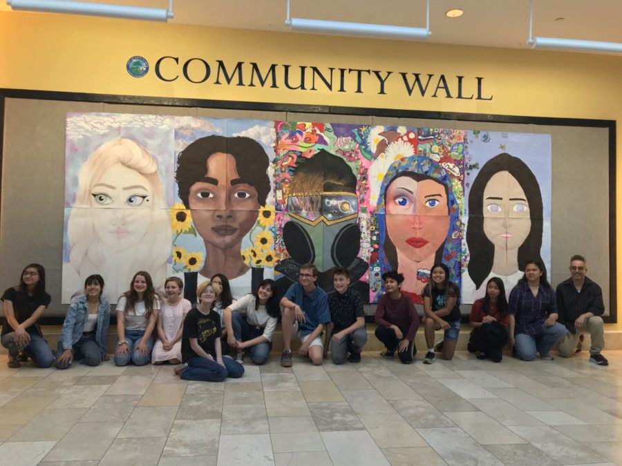 Rio Norte students unveil mural at Westfield Valencia Town Center