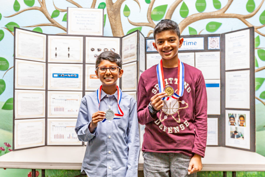 Two Oak Hills Elementary students compete at state science fair