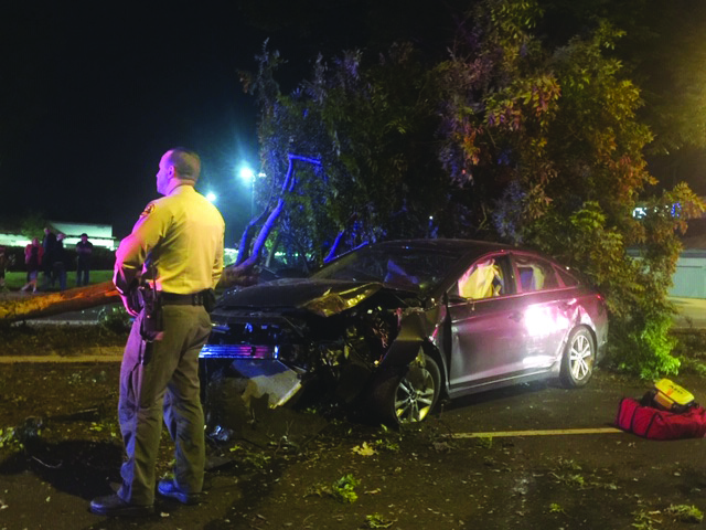 Valencia woman arrested on suspicion of DUI, child endangerment, in Friday crash