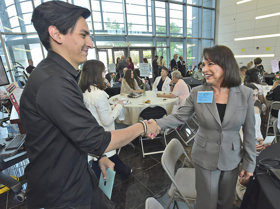 College scholarship recipients, donors gather for recognition reception