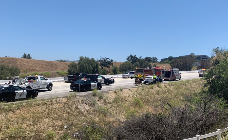 Motorcycle versus vehicle prompts all southbound I-5 lanes to temporarily shutdown