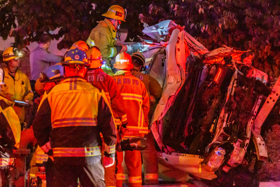 UPDATE: Man, dog transported after rollover traffic collision