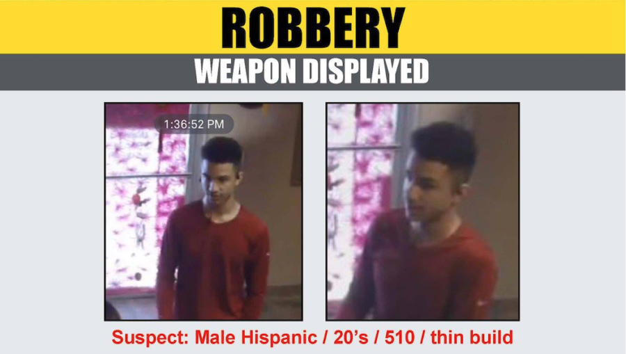 Detectives seek information in identifying massage parlor robbery suspect