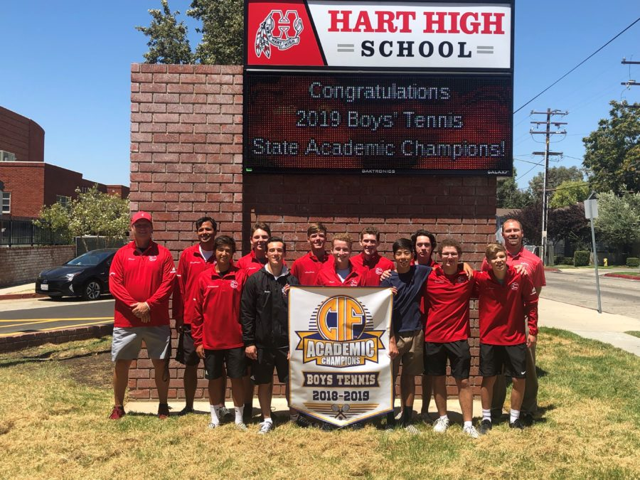Hart boys tennis team receives state academic honor