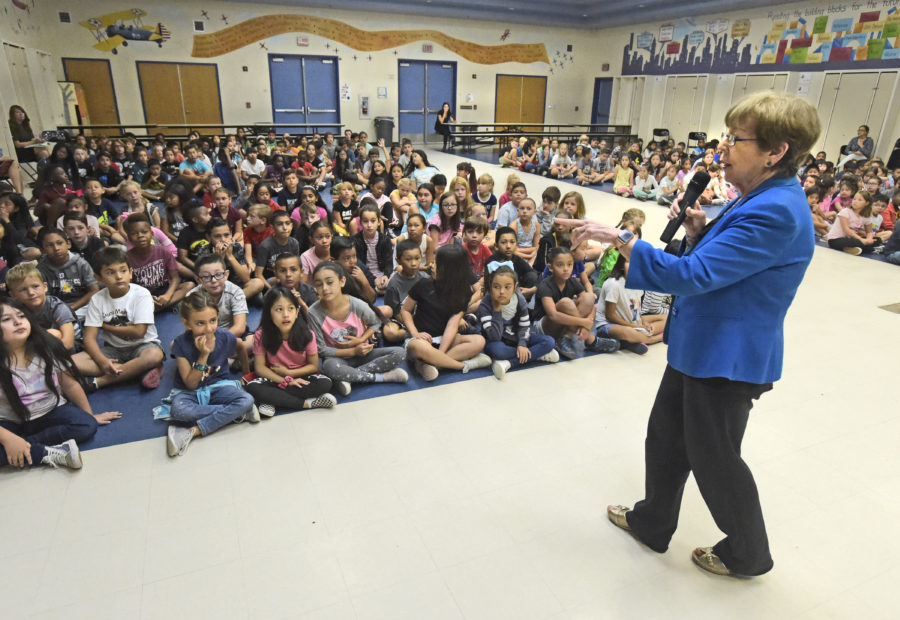 McLean visits Golden Oak students